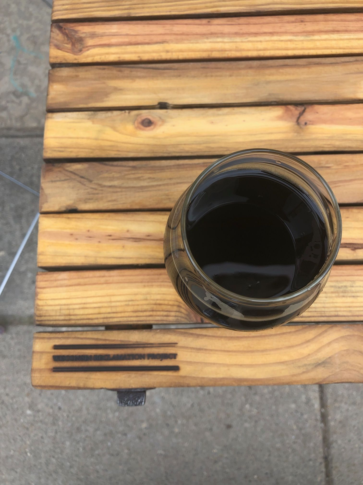 Reclaimed Wooden Table and Wine
