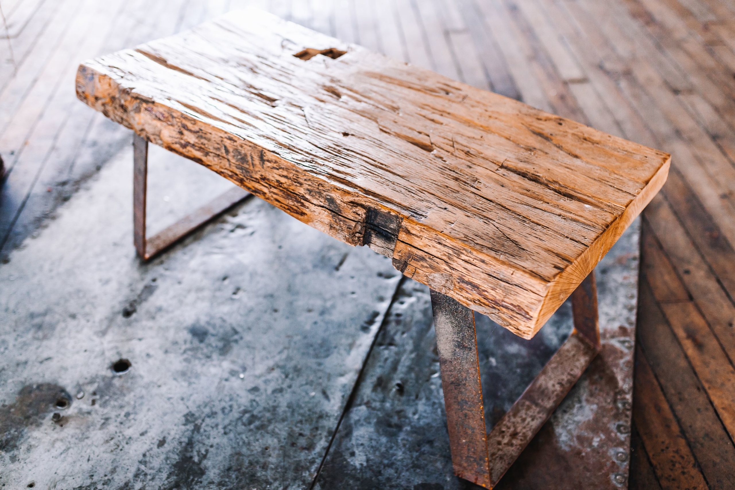 Reclaimed Wooden Stool