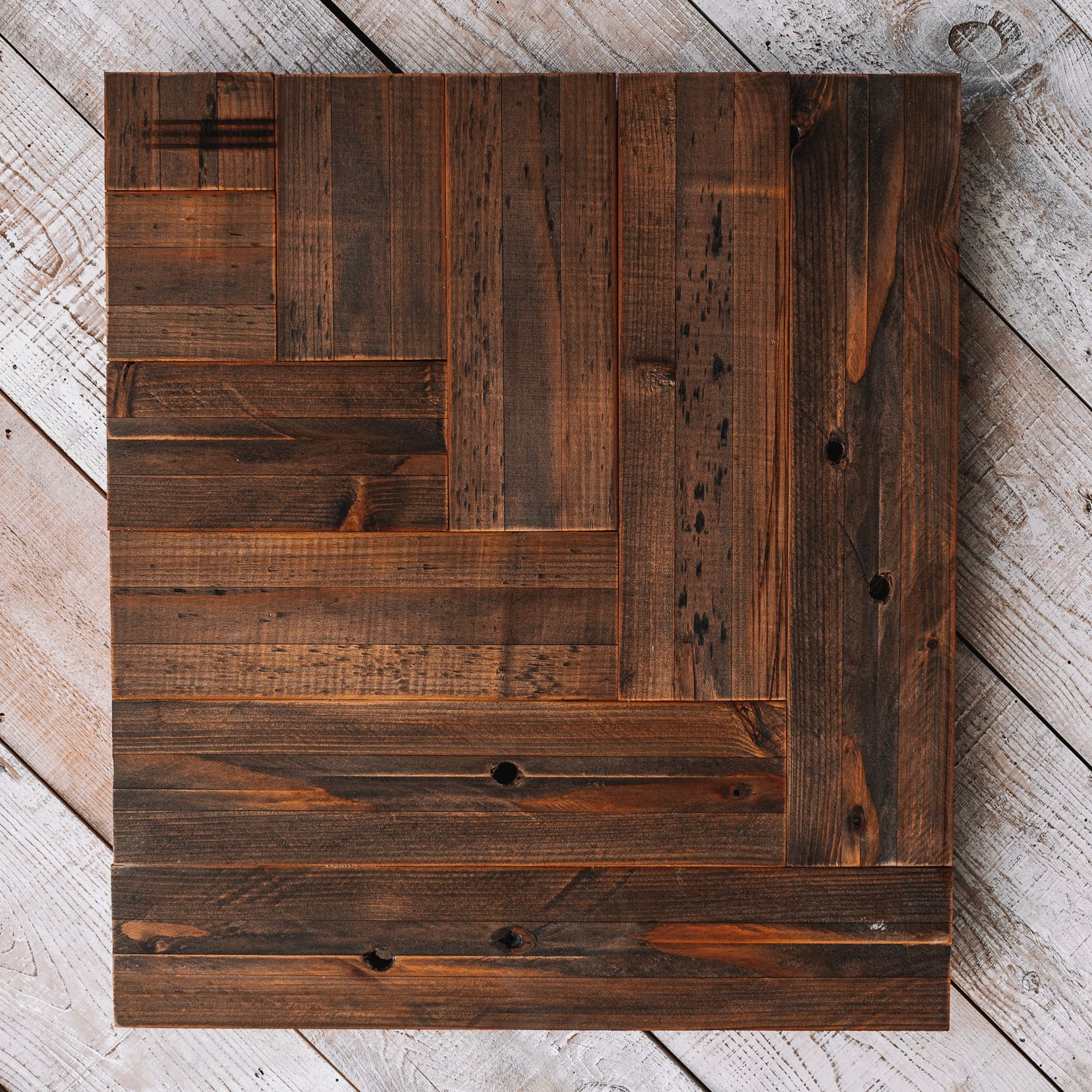 Dark Finished Reclaimed Wood