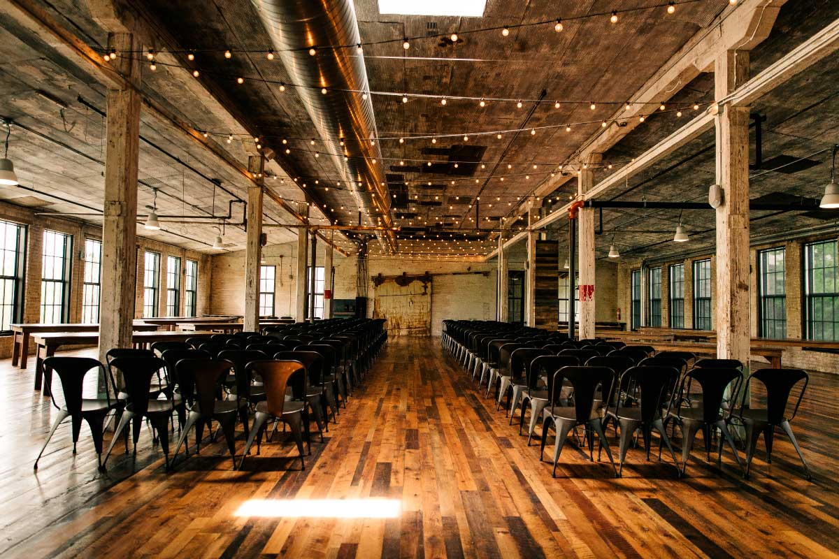 Reclaimed Wood for Journey Man Event Space