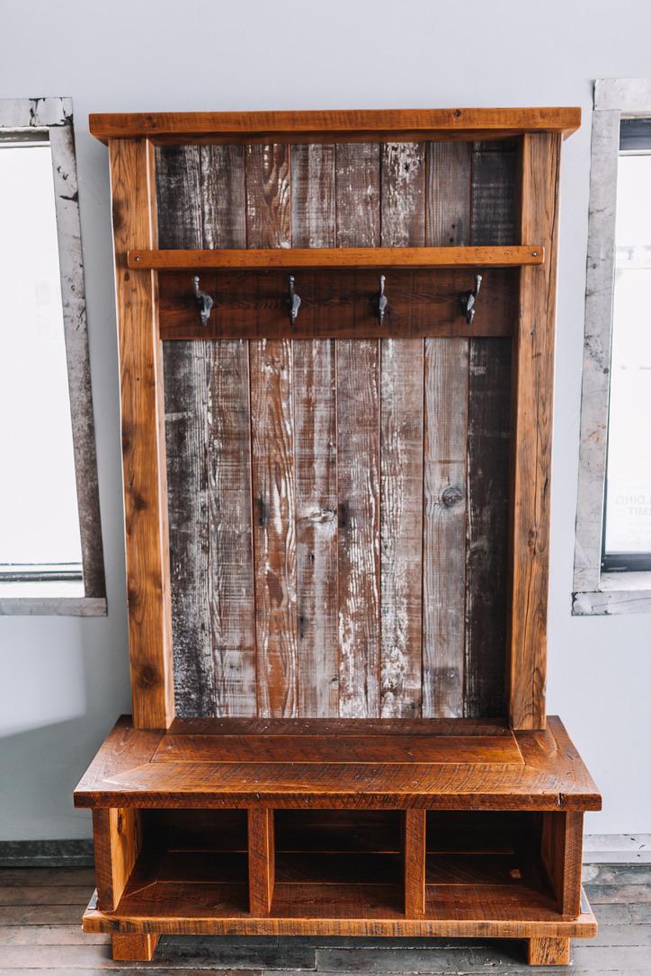 Reclaimed Wood Dresser & Clothes Hanger