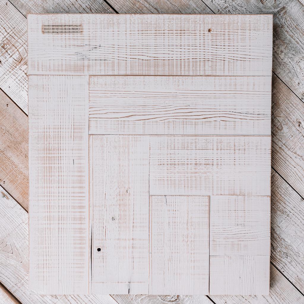 White Reclaimed Wood Board